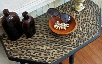 Faux Leopard Paint Finish