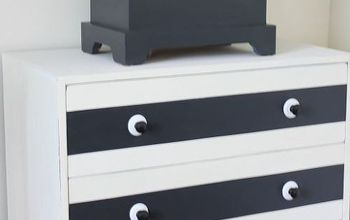 Paint and New Hardware Give a Plain Dresser a Whole New Look