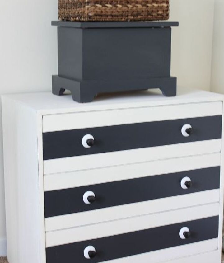 paint and new hardware give a plain dresser a whole new look, painted furniture