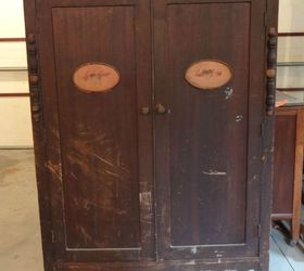 Captivating Antique Wardrobe In Iron Ore Sw, Closet, Painted Furniture, Repurposing  Upcycling