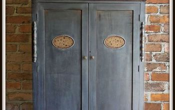 Antique Wardrobe in Iron Ore (SW)