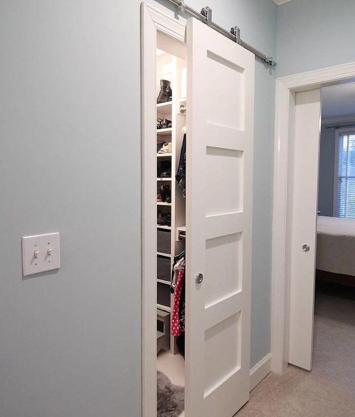 Modern Barn Doors Solution For Awkward Spaces Hometalk