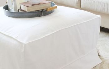 diy slipcover for an ottoman, home decor, living room ideas, repurposing upcycling, reupholster