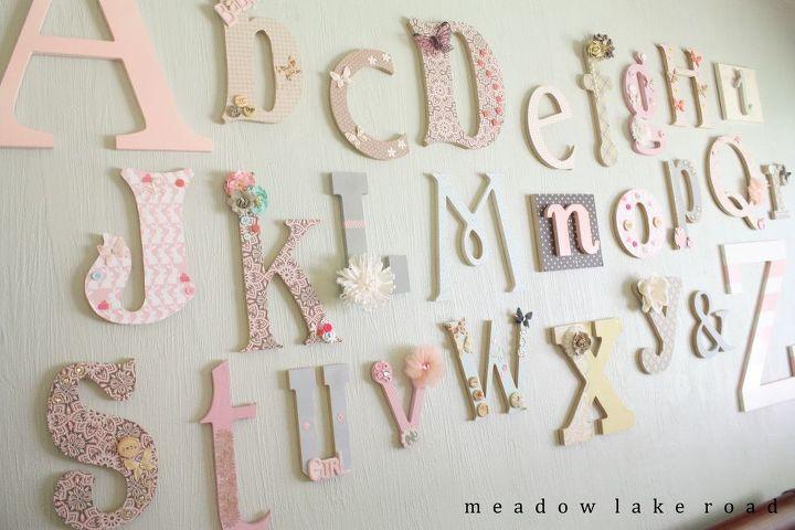 Nursery Alphabet Wall - A Baby Shower Activity   Hometalk