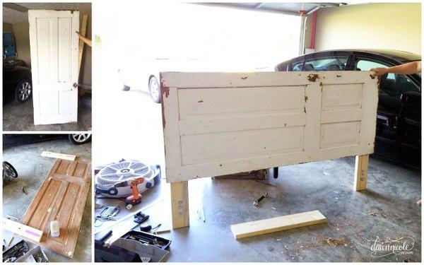 diy vintage door headboard, bedroom ideas, diy, doors, home decor, rustic - DIY Vintage Door Headboard Hometalk
