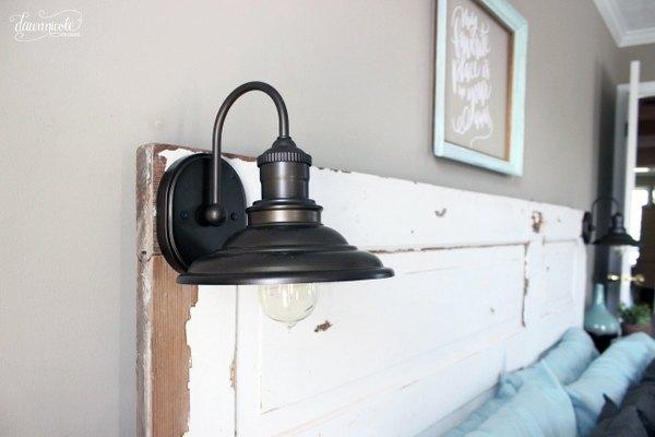 diy vintage door headboard, bedroom ideas, diy, doors, home decor, rustic furniture, woodworking projects