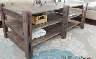 arhaus inspired coffee table, diy, home decor, living room ideas, rustic furniture, woodworking projects