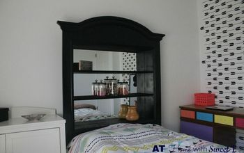 Headboard Made From Dresser Mirror