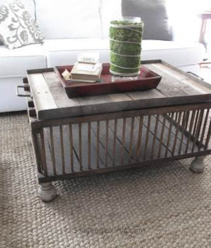 chicken coop coffee table, diy, painted furniture, pallet, repurposing upcycling, rustic furniture, woodworking projects