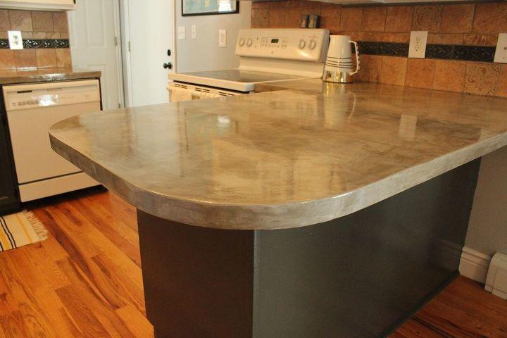 diy concrete kitchen countertop tutorial, concrete masonry, concrete countertops, countertops, diy, how to, kitchen design