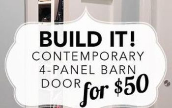 build it contemporary 4 panel barn door for 50, diy, doors, woodworking projects