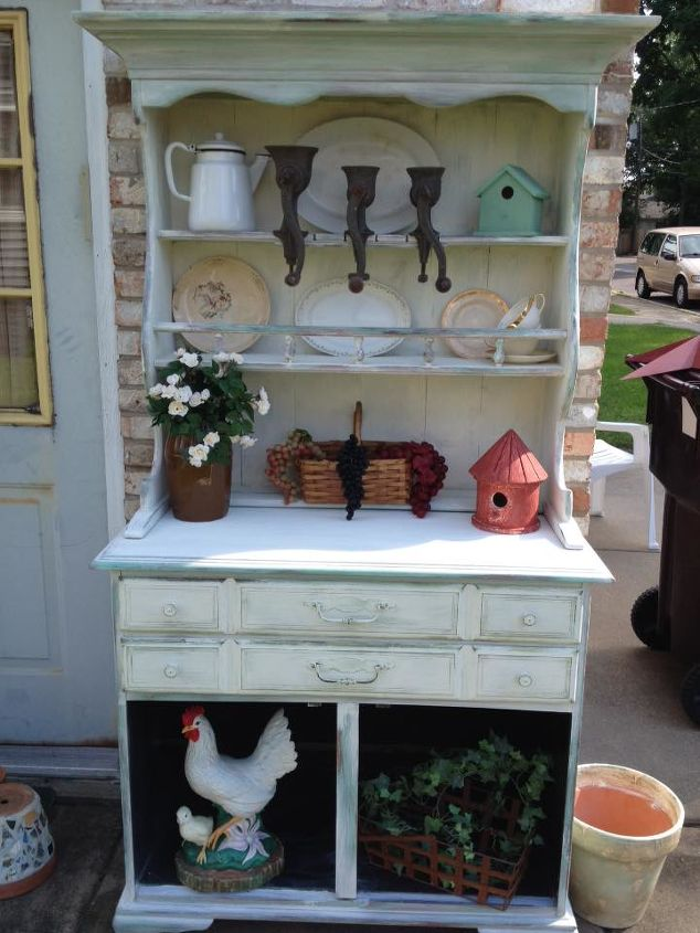 How I Turned An Old Maple Hutch Into A Garden Beauty