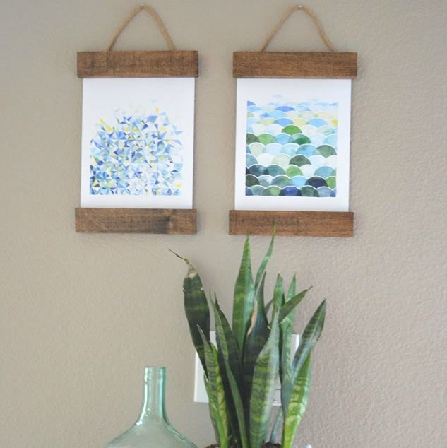 s 16 crazy creative ways to fill your empty walls on a budget, home decor, Rustic Hanging Art