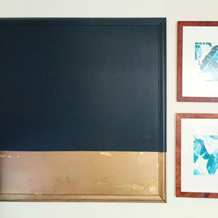s 16 crazy creative ways to fill your empty walls on a budget, home decor, Large Colorblock Look