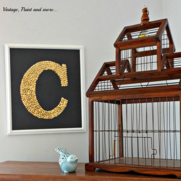 s 16 crazy creative ways to fill your empty walls on a budget, home decor, Thumb Tack Monogram