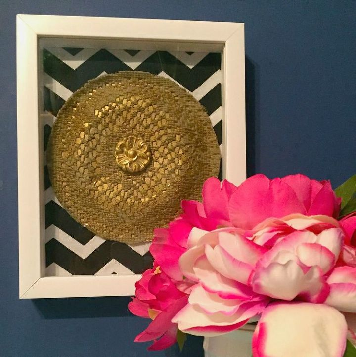 s 16 crazy creative ways to fill your empty walls on a budget, home decor, Golden Medallion From Paper Bowl