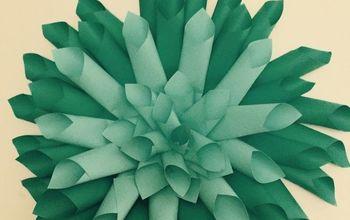 paper dahlias dorm room ideas, bedroom ideas, crafts, repurposing upcycling