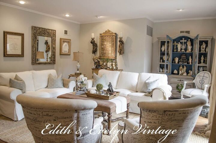 Transforming A Family Room In Vintage French Country Home Decor Living