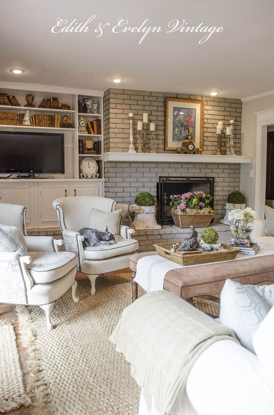 extraordinary french country living room curtains   Transforming a Family Room in a Vintage French Country ...
