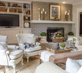 Transforming A Family Room In A Vintage French Country Home, Home Decor, Living  Room ...