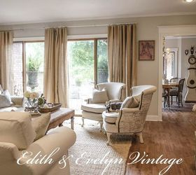 Vintage country decor living room
