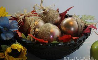 fall acorn ornaments, crafts, repurposing upcycling, seasonal holiday decor