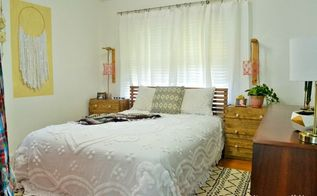 orderly bohemian bedroom, bedroom ideas, home decor, Bedding with texture creates a boho feel