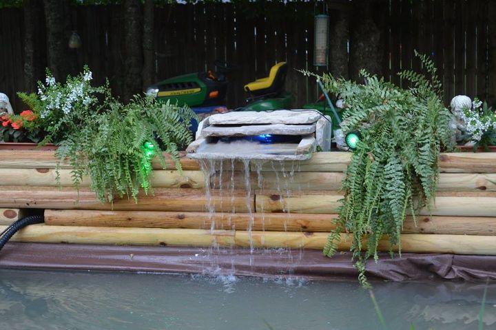 home built koi pond 2, diy, landscape, ponds water features