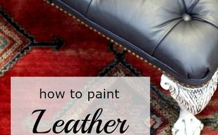 diy painting leather with velvet finishes, painted furniture