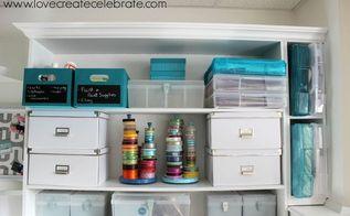 custom craft space, craft rooms, organizing, shelving ideas, storage ideas