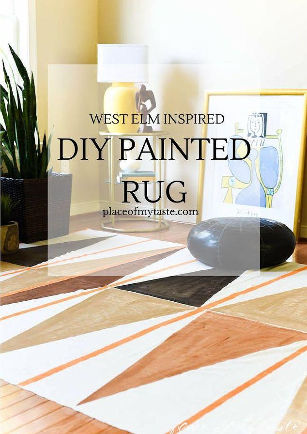 west elm inspired diy painted rug hometalk