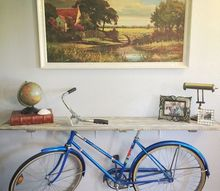 50s bike turned into a priceless credenza, diy, living room ideas, repurposing upcycling