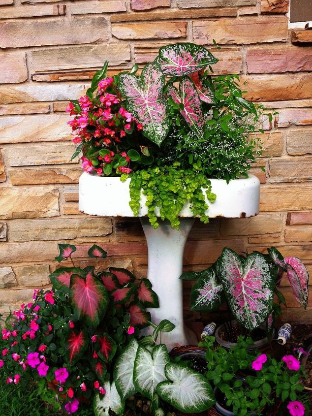 Repurposing An Old Pedestal Sink Into A Planter Hometalk
