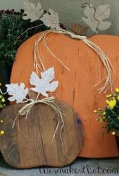 rustic wooden pumpkins, crafts, seasonal holiday decor