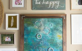 handpainted sign using scrap wood and sample paint, crafts, repurposing upcycling, wall decor