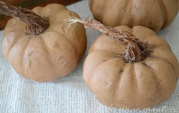 creating diy pumpkins with a realistic looking stem, crafts, how to, seasonal holiday decor