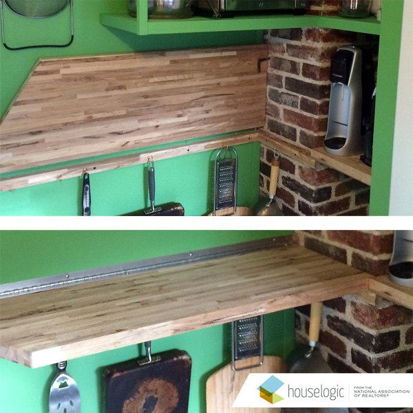 Hinged Counter Tops : Fold down counter in a small kitchen hometalk