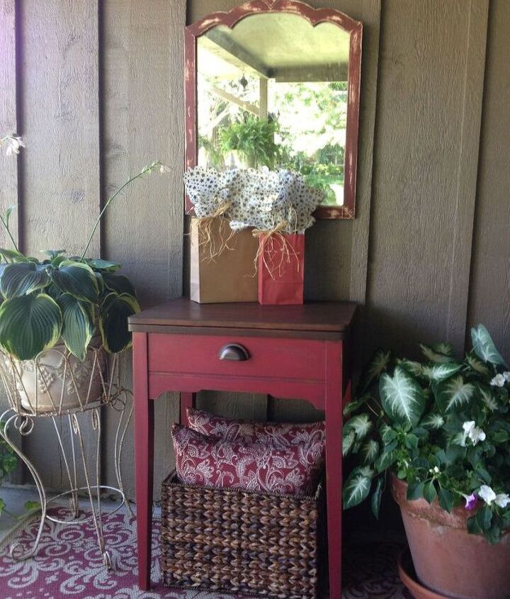 sewing machine cabinet made into holiday cooler, painted furniture, repurposing upcycling