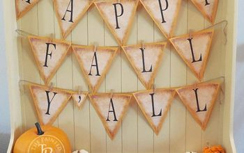 Happy Fall Y'all Banner Tutorial - Free Printable Banner Letters A-Z