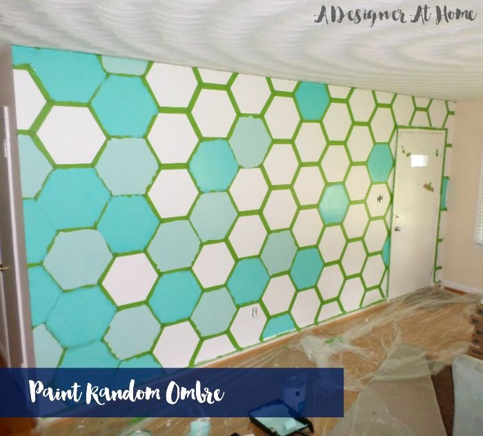 How To Tape Paint Hexagon Patterned Wall Colors Painting