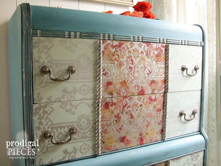 dumpster dresser turned diva, painted furniture, shabby chic