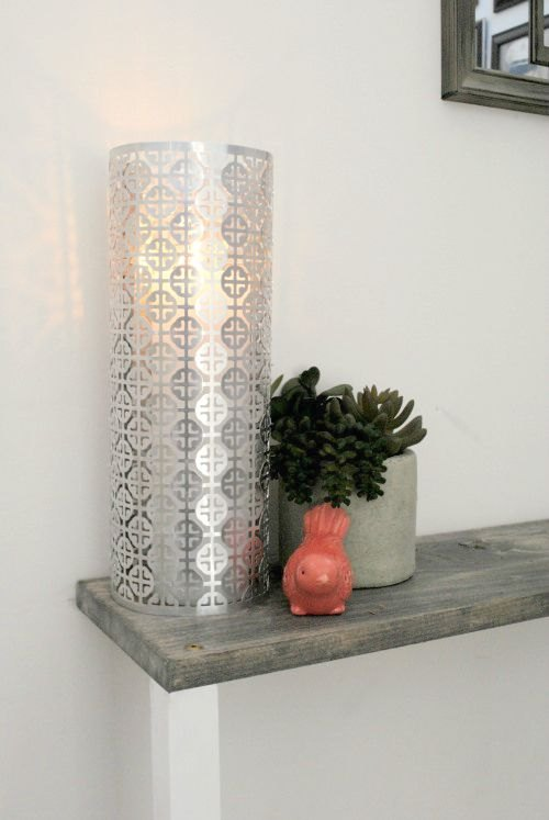 s 9 creative ideas that will change the way you see sheet metal, crafts, home decor, Create Romantic Candle Holders