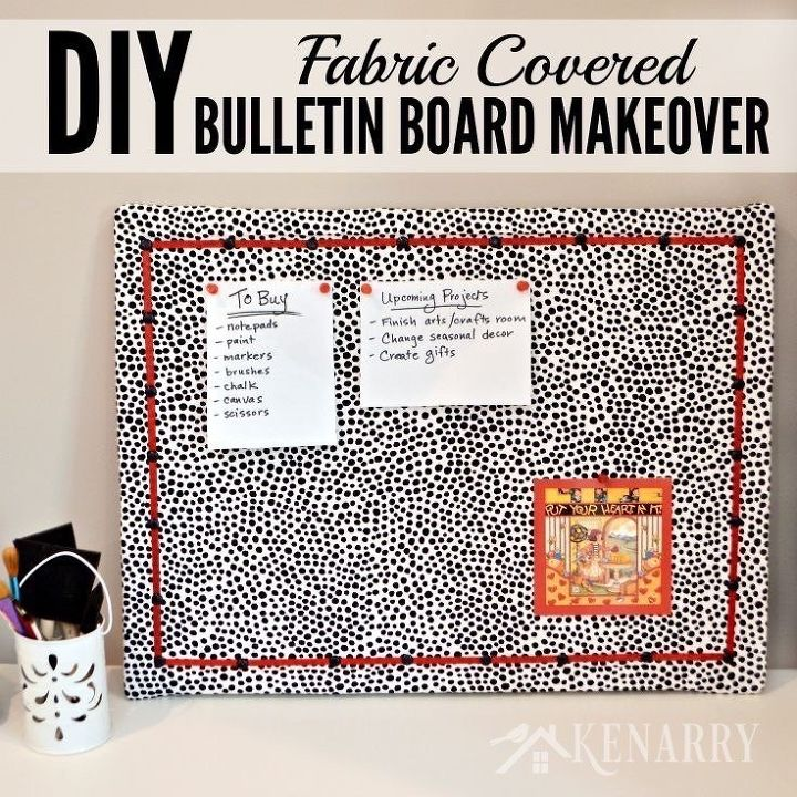 diy bulletin board makeover how to cover in fabric, crafts, how to, organizing, reupholster