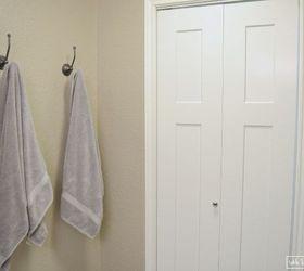 framed fabric towel hook update hometalk rh hometalk com  small bathroom towel hook ideas