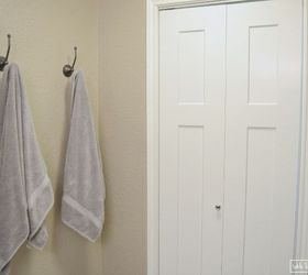 Framed Fabric Towel Hook Update, Bathroom Ideas, How To, Small Bathroom  Ideas,