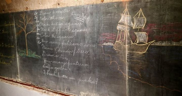 q chalkboard paint yes or no, chalkboard paint, diy, how to, paint colors, painting, wall decor, Old school room chalkboard Check out the written math problems D