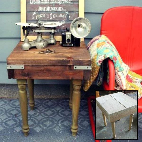 s 15 trash to treasure triumphs that will make you love industrial decor, painted furniture, repurposing upcycling, Industrial Table from Scraps