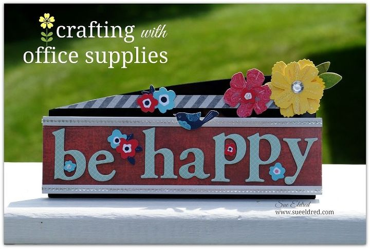 crafting with office supplies, crafts, home decor