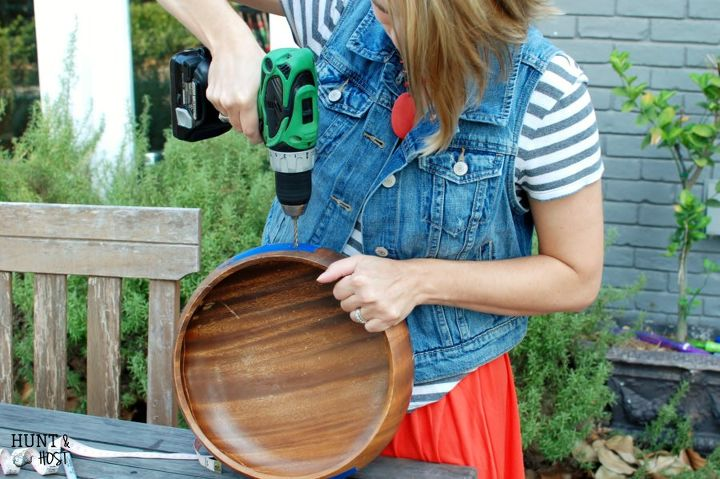 wooden salad bowl to succulent garden, chalk paint, crafts, how to, repurposing upcycling, succulents