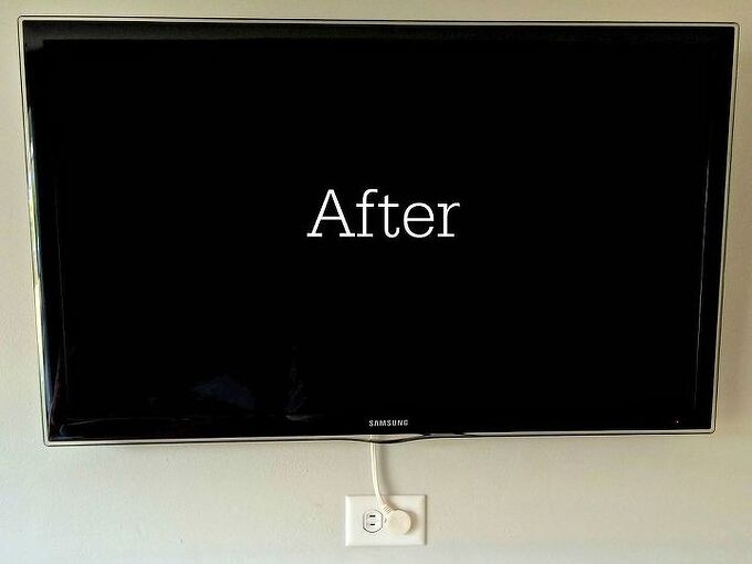 hide your tv cords without breaking your walls, organizing